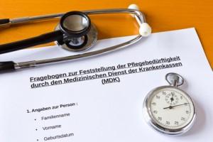 Übersicht Pflegegradeversicherung
