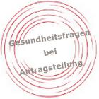 Gesundheitsfragen des Tarif Nürnberger PTF