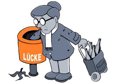 Ohne eine private Pflegevorsorge kann es schnell zu finanziellen Engpässen kommen.